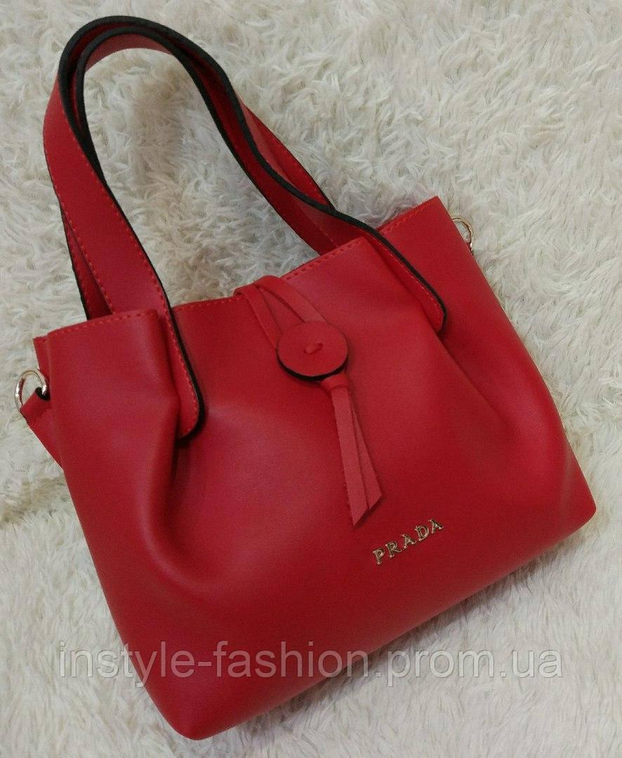 35b713225504 Сумка женская брендовая Prada Прада мини красная  купить недорого ...