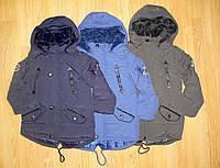 Куртки-парки зимние на меху на мальчика оптом, Egret , 98-128 рр