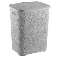 Корзина для белья пластиковая Ажур Elif 322-1 белый