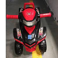 Детская каталка-толокар M 3502-2-3 черно-красный