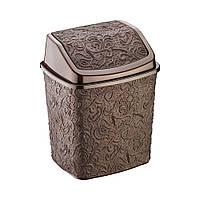 Контейнер для мусора Ажур Elif 384-1 коричневый