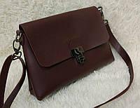 Модная сумка-клатч через плечо Булгари Bulgari бордовая