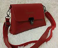 Модная сумка-клатч через плечо Булгари Bulgari красная