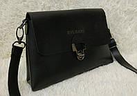 Модная сумка-клатч через плечо Булгари Bulgari черная