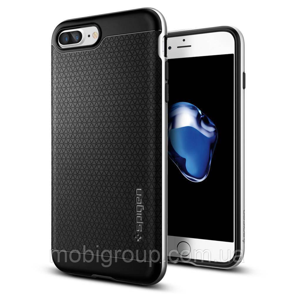Чехол Spigen для iPhone 7Plus Neo Hybrid, Satin Silver