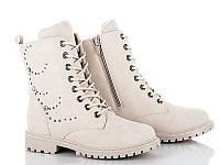 Демисезонные ботинки женские оптом. 9-510 Beige (8пар, 36-41)