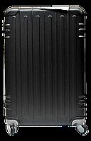 Чемодан дорожный пластик (средний) черного цвета Ч29