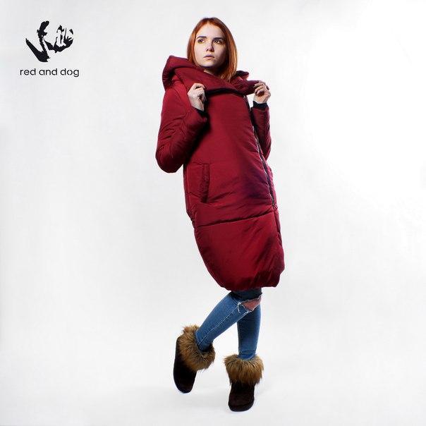 4d7ad8e6 Куртка женская зимняя с капюшоном Red and Dog Penguin Bordo - купить ...