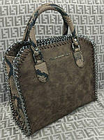 Модная сумка Stella McCartney Стелла МкКартни коричневая с рептилией