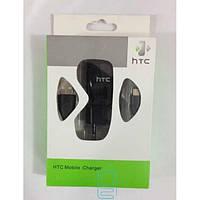 Сетевое зарядное устройство HTC 2 in 1 черное
