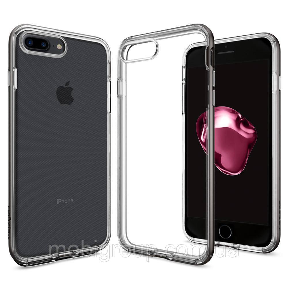 Чехол Spigen для iPhone 7Plus Neo Hybrid Crystal, Gunmetal