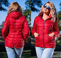 Женская куртка деми,спереди и сбоку молния ,два цвета