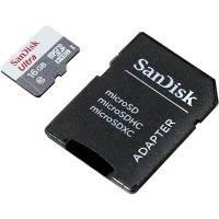 Карта памяти sandisk microsdhc 16gb ultra c10 80mb/s + sd adapter