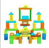 Детский деревянный конструктор Руди Д366е 48 деталей