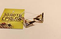 Серьги, золото 3.7 грамм, бриллианты 0.07 карат.