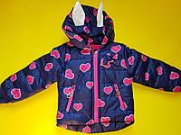 Теплая демисезонная курточка для девочки Польша 1 - 5 лет