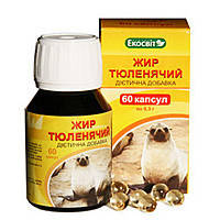 Жир Тюленя 60кап.Экосвит Украина