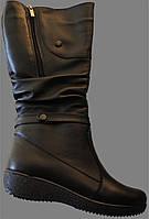 Женские сапоги из кожи, сапоги от производителя модель ВБ50