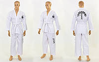 Добок кимоно для тхэквондо ITF МА-5468 (хлопок 65%, полиэстер 35%, р-р 00-4 (120-170см), 240 г на м2)