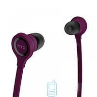 Наушники с микрофоном HTC RC E160 с пультом фиолетовые