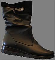 Женские сапоги кожаные, сапоги от производителя модель ВБ40