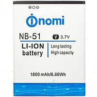 Аккумулятор NOMI NB-51 для i500 1800 mAh AAAA/Original