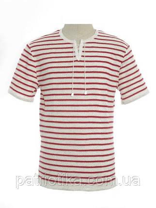 Футболка мужская В краснюю полоску | Футболка чоловіча В червону смужку, фото 2