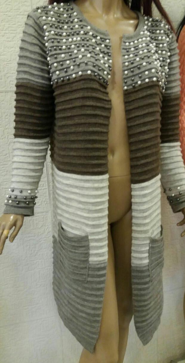 Кардиган женский с бусинками