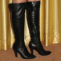 Женские высокие сапоги ботфорты Grado р.37 кожа, еврозима, фото 1