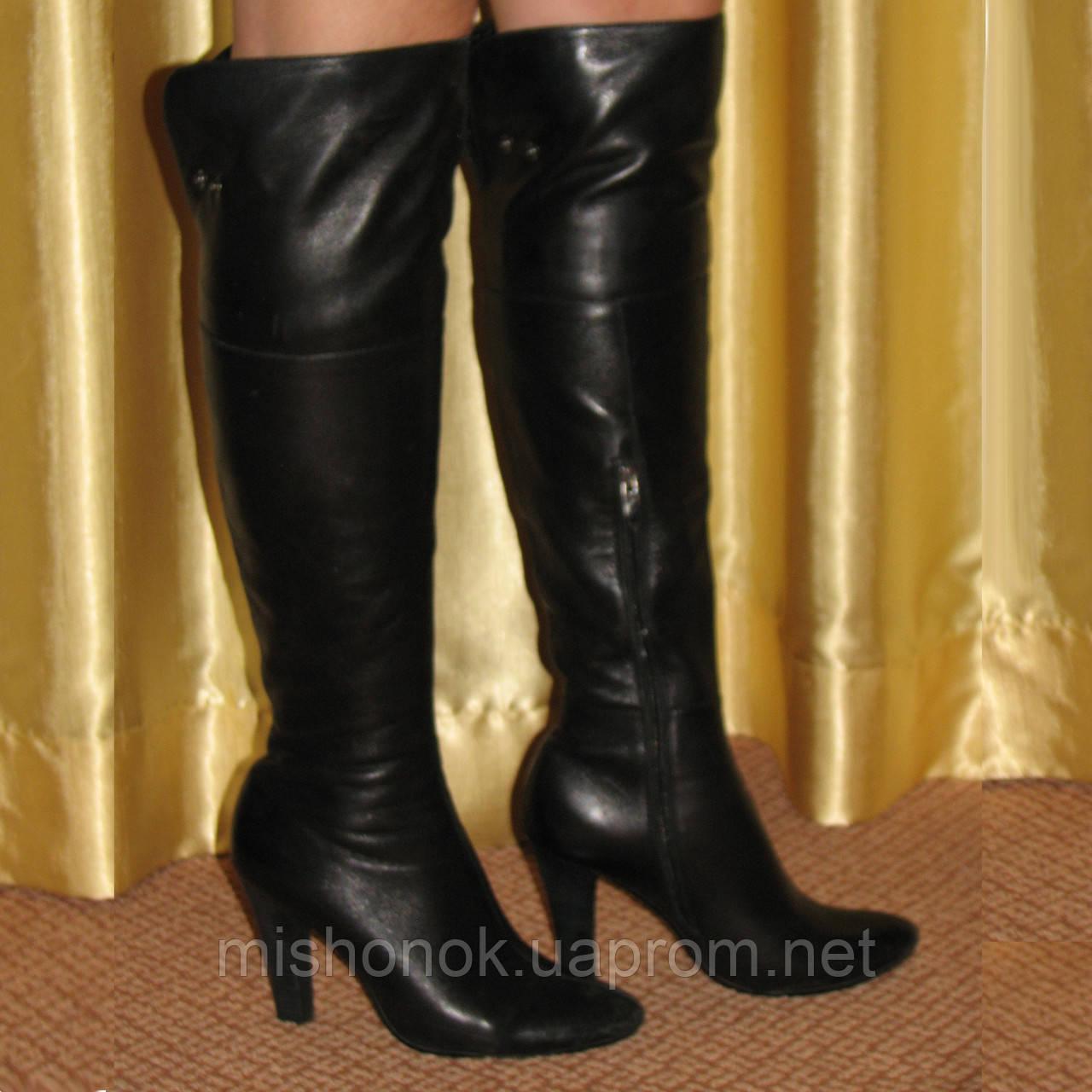 Женские высокие сапоги ботфорты Grado р.37 кожа, еврозима