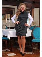 Женский сарафан Береза цвет серый размер 48-72 / большого размера