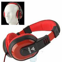Наушники с микрофоном VYKON MQ98 черно-красные