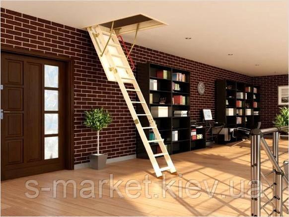 Горищні сходи Fakro LWS Plus 60х120х280