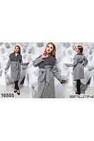 Стильное женское пальто букле демисезон,больших размеров 50,52,54,56