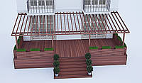 Пристенные террасы с доставкой и монтажом.