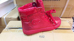 Ботинки женские зима красные оптом