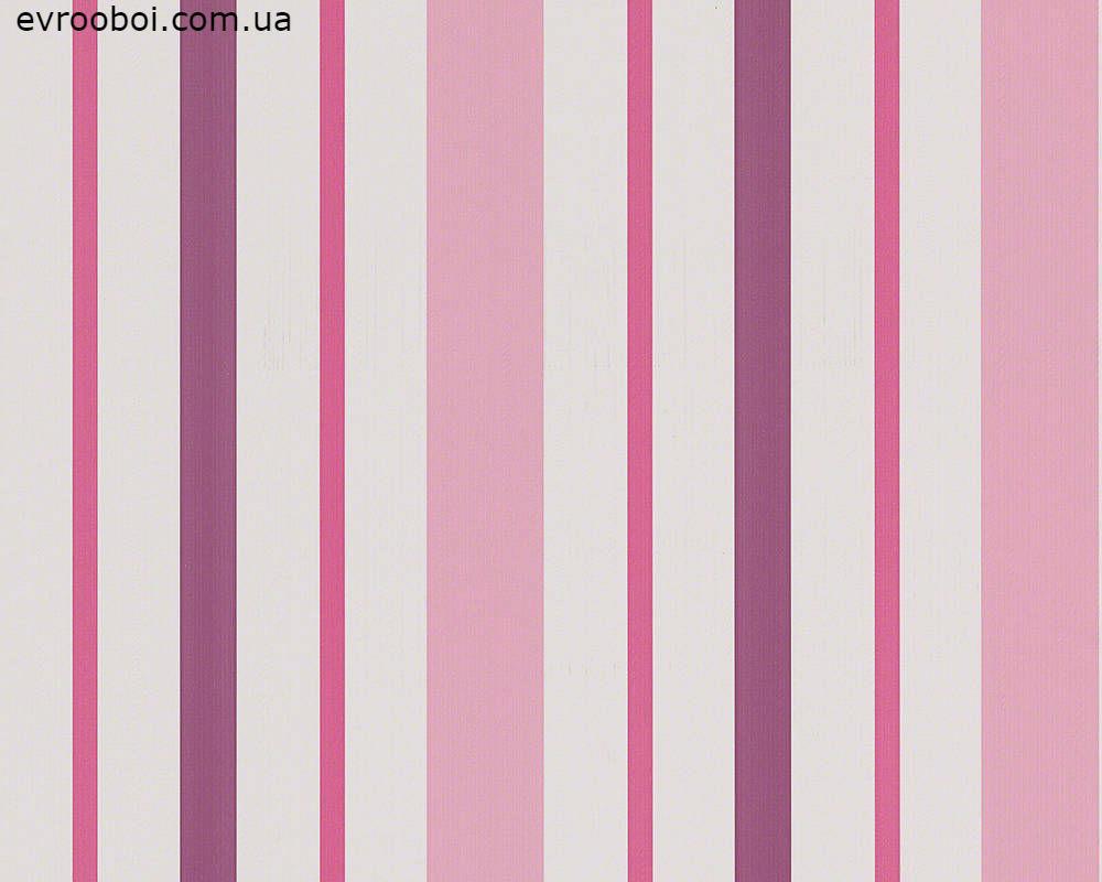 Плотные и прочные фактурные обои, в вертикальную полоску, розовую и фиолетовую 898319