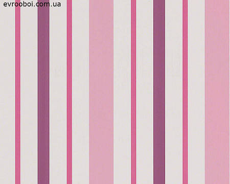 Обои в вертикальную полоску, розовую и фиолетовую 889319.