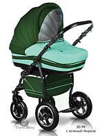 Универсальная коляска 2 в 1 Trans baby Mars, зелено-бирюзовая
