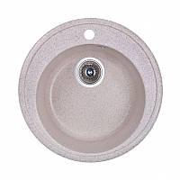 Мойка круглая искусственный камень песочная 51 см Fosto D510 SGA-300