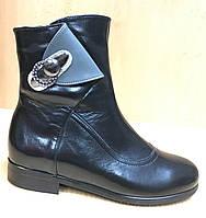 Детские демисезонные кожаные ботинки для девочек размеры 31 f708dc69eaa64