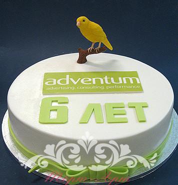 Торт с логотипом компании