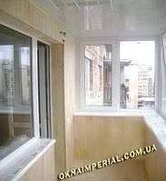 Внутренняя обшивка балкона деревянной вагонкой. Обшивка балкона Киев. Внутренняя обшивка балкона недорого.Внутренняя отделка балкона цена
