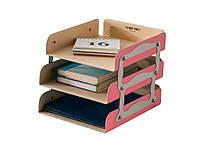 Лоток для бумаг Mealux Comf-Pro KS-05 (Розовый)