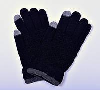 Айфон мужские сенсорные перчатки. Черный,остатки