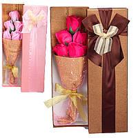 Натуральное мыло ручной работы Букет Цветы пять роз