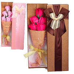 Натуральне мило ручної роботи Букет Квіти п'ять троянд