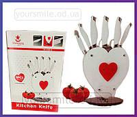 Набор ножей с подставкой Сердце YW-A190-H