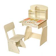 Парта для детей со стулом растишка белая