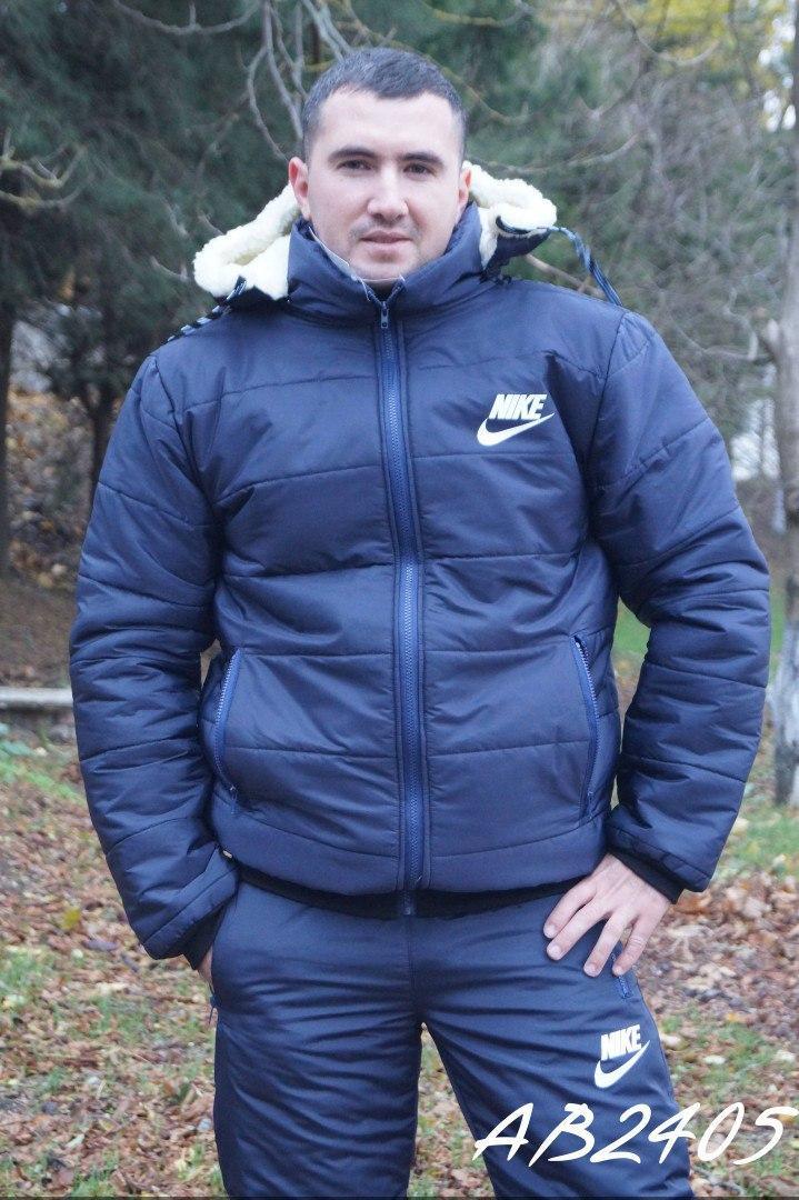 Утепленный мужской костюм зимний плащевка овчина 48 50 52 54